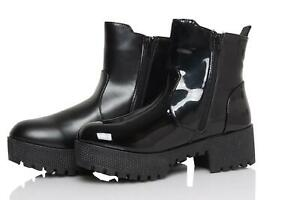 New-Womens-Ladies-Chunky-Block-High-Heel-Zip-Up-Chelsea-Ankle-Boots-Shoes-UK-3-8