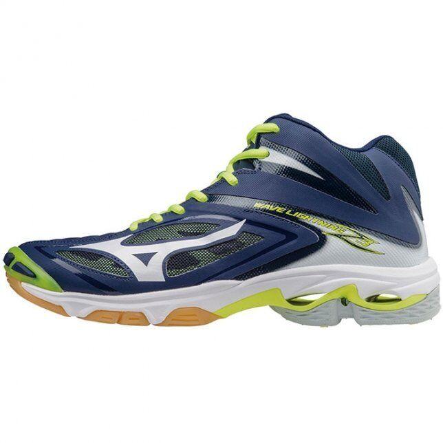 Mizuno Wave Lightning Z3 Mid bleu blanc hommes Volleyball chaussures V1GA170571