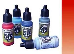 VAL003-Rouge-Ecarlate-Vallejo-Model-Air-Acrylique-Aerographe-Peinture-ou-Pick