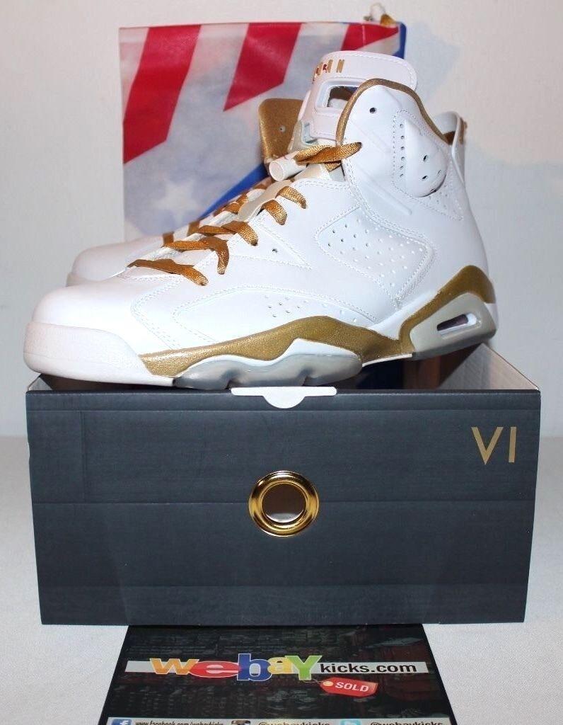 pretty nice c3818 69089 ... ebay air jordan momentos retro 6 vi gmp momentos jordan dorados pack  oro sneakers especiales de