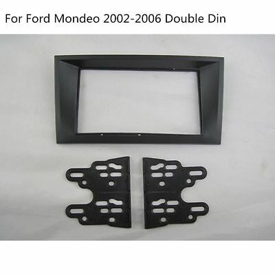 FORD MONDEO 2002 ONWARDS BLACK SINGLE FASCIA FACIA ADAPTOR PANEL