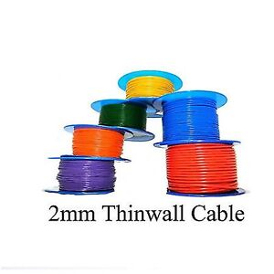 LAYOUT WIRES SUITABLE FOR POINT MOTORS & DCC-16/0.2mm STRANDED TRACK 00 GAUGE
