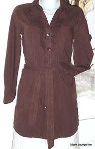 S-Oliver-Cotton-Tunic-Blouse-36-S-Brown-Earth-Cotton-New