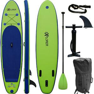 SUP Board EXPLORER Stand Up Paddle Surfboard aufblasbar Paddel ISUP ALF2 320 cm