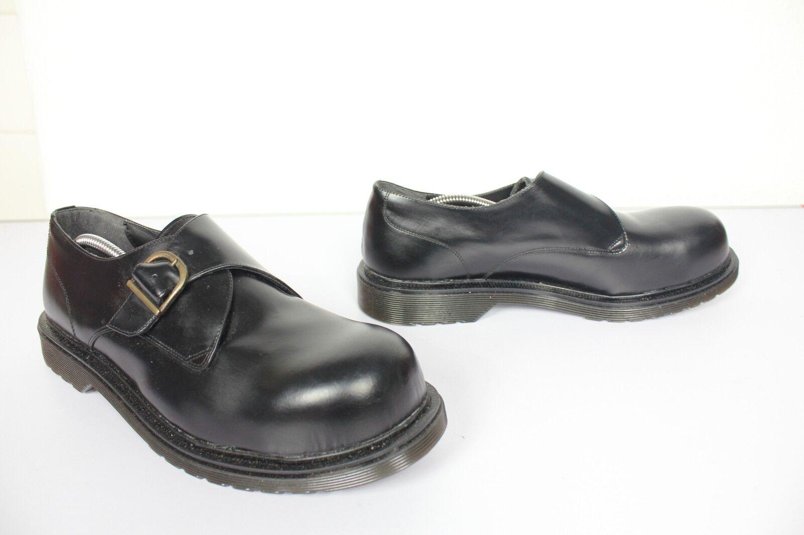 London Style Safety Monk Scarpe da nero uomo in vera pelle nero da eu:46 - NUOVO SENZA SCATOLA 39e83f