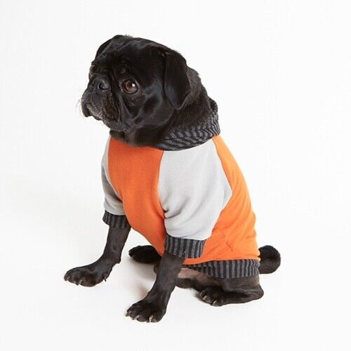 ThyBeast Bamboo Cotton Fleece Dog Hoodie - Orange Größe Large