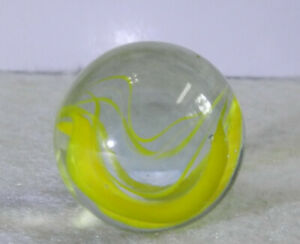 11461m-Vintage-Vitro-Agate-Horseshoe-Cat-039-s-Eye-Shooter-Marble-86-Inches