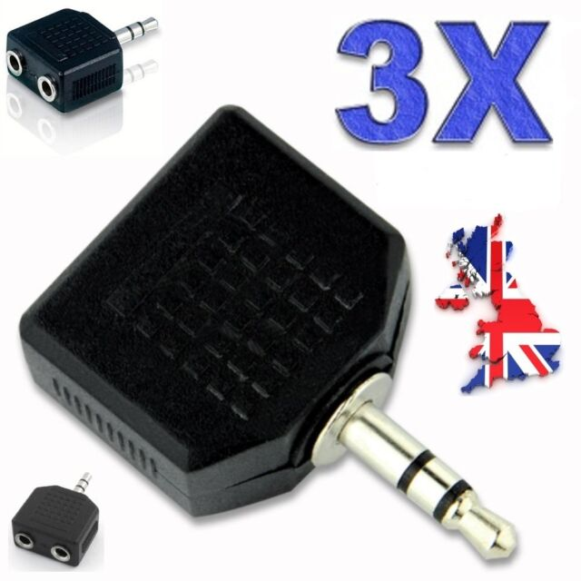 3X Headphone Jack Plug Audio Adaptor - 3.5mm - Y Splitter