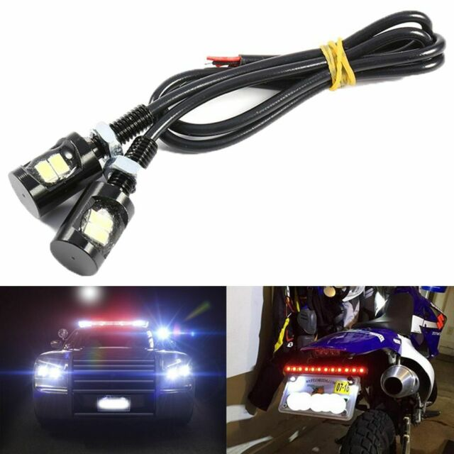 White LED License Plate Screw Bolt Lights Bulbs Lamp Universal  Car Motorcycle l