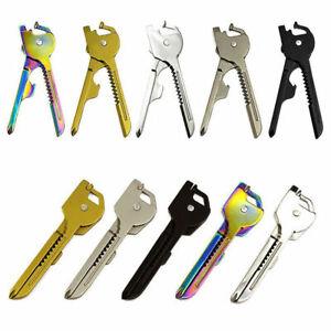 Tech-Key-6-in-1-EDC-Pocket-Tool-Edelstahl-Schluesselanhaenger-G-Ring-Utilikey