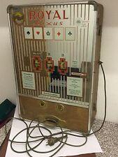 Historischer Bergmann Royal Luxus Spielautomat DM ohne Funktion 73 x 50 x 22cm
