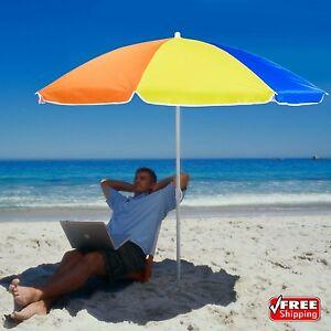 Exceptional Image Is Loading 6 Ft Lightweight Rainbow Beach Patio Umbrella W