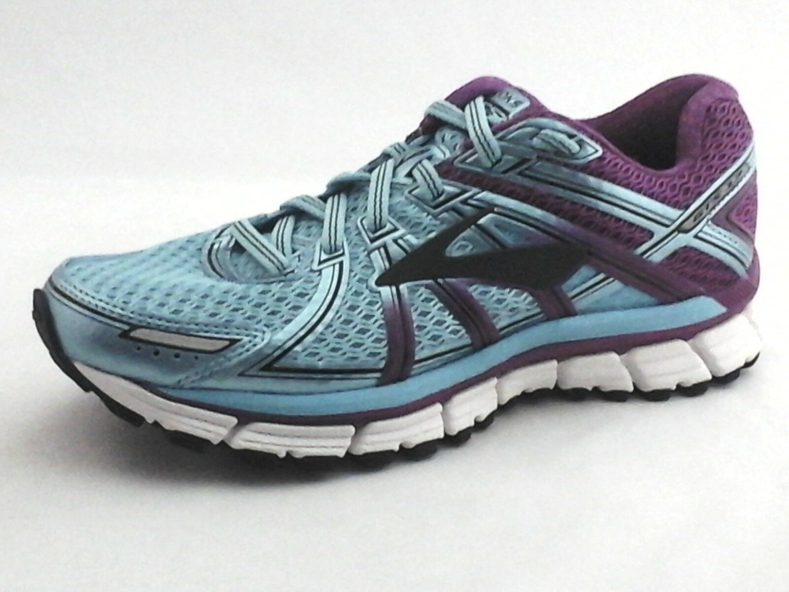 BROOKS Adrenaline GTS 17 Running shoes Aqua bluee Purple Womens US 5.5  130 New