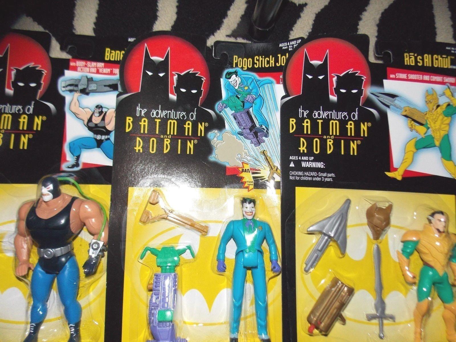 VTG Kenner Adventures of Batman Robin tv cartoon movie Joker Bane RaS Al Ghul