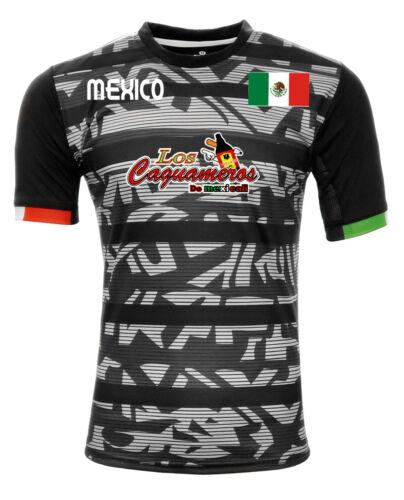 Jersey Mexico Los Caguameros de Mexicali 100/% Polyester BlackGrey/_Made in Mexico
