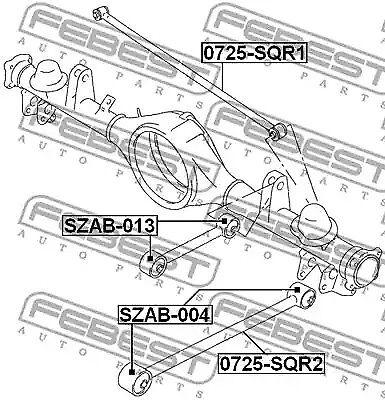 Control Arm-//Trailing Arm Bush FEBEST SZAB-013