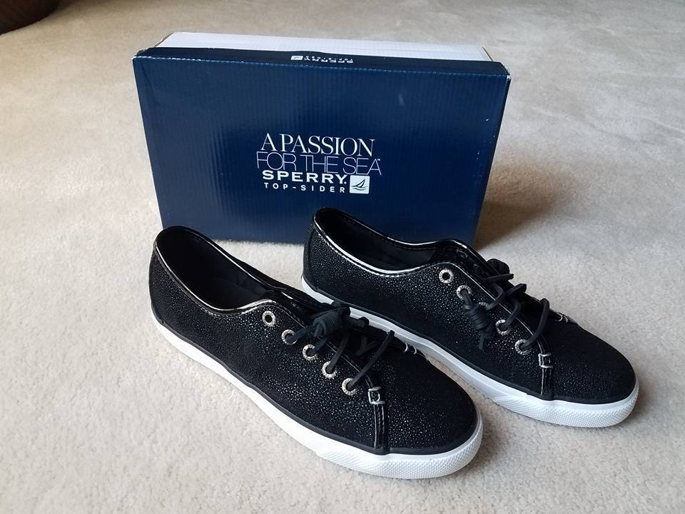Sperry Top-Sider Seacoast Cavier Black Boat shoes Sneakers Size 8M New  89
