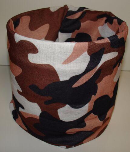 PLATEAU RUST CAMO Tubular Multi Function head wear Scarf Balaclava Beanie AA-20