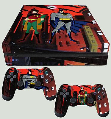 Candid Ps4 Fin Skin Batman Et Robin Animé Gotham + Pad Décalques Vinyl Neuf Plat Quality And Quantity Assured