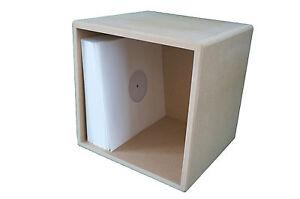 12 Quot Vinyl Storage Cube Lp Record Box Cabinet Case Unit Ebay