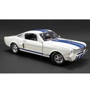ACME – 1 18 Scale – 1966 Shelby GT350 Supercharged in Wimbledon White with bluee
