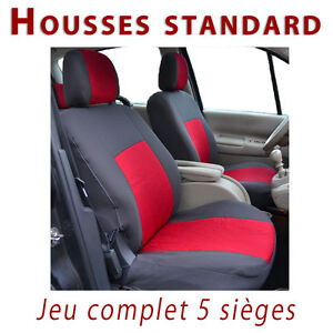 Housses de protection sièges voiture Rouge et gris