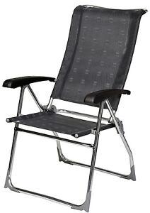Dukdalf Lounge Chair.Details About Dukdalf Aspen Folding Caravan Chair Grey Latest Model 8 Position Recline