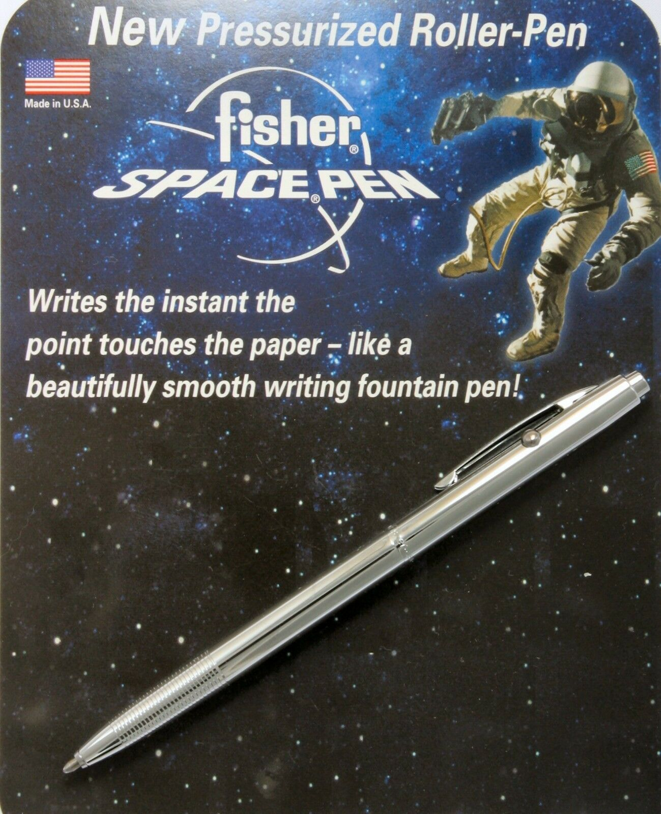 Shuttle Series Chrome Pen Fisher Space Pen #CH4