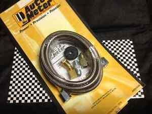 s l300 autometer 3228 4 an ss braided oil fuel pressure gauge hose