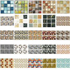 20pcs Waterproof Self-adhesive Tiles Sticker Floor Wall Decals #2 10x10cm