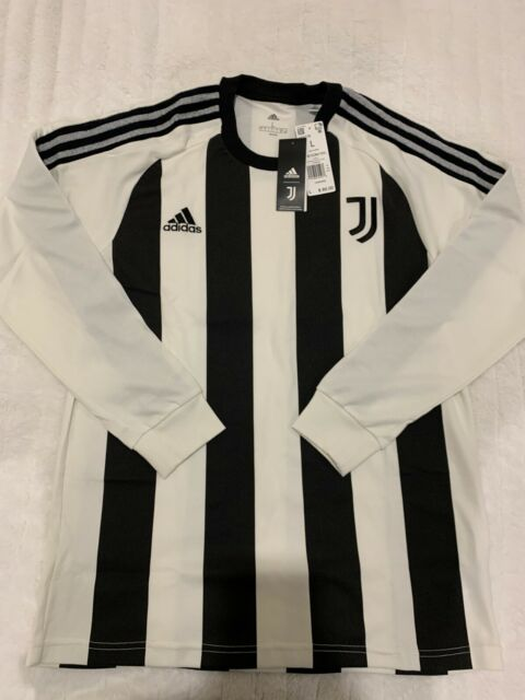 2020-21 Adidas Juventus Soccer Long Sleeve Icons Jersey FR4216 New