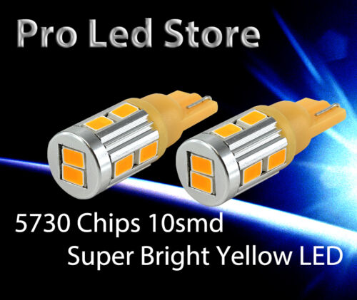 T10 High Power LED Bright Amber Yellow Light Lamp Tail Side Wedge License Plate