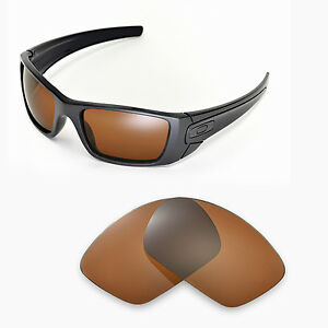 Image is loading New-Walleva-Polarized-Brown-Replacement-Lenses-For-Oakley-