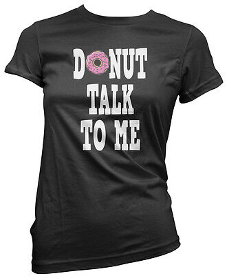 Baking Foodie Funny Womens Vest Tank Top Donut Talk to Me Doughnut