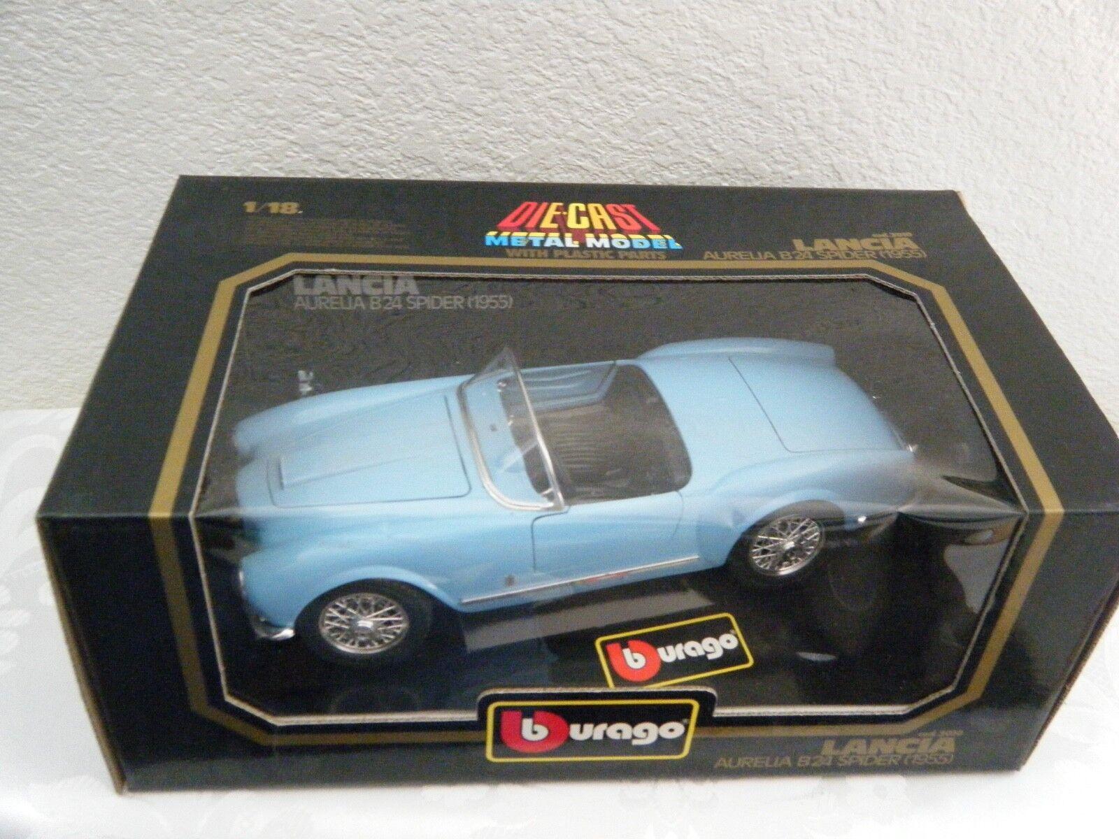 liquidazione BBURAGO LANCIA LANCIA LANCIA AURELIA B24 SPIDER - blu 1955  1 18 - DIE CAST METAL modello 3010  prezzo all'ingrosso e qualità affidabile