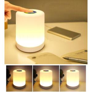 LED Nachttischlampe Touch Sensor Steuerung Leselampe Dimmbar RGB Nachtlichter