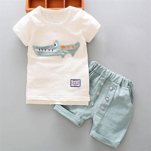 Shorts 2pcs Toddler Boys Clothes Sets Baby Boys Summer Clothes Casual T-Shirt
