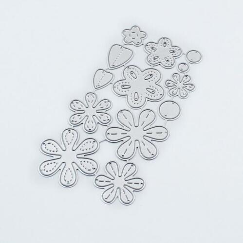 Flower Layered Metal Cutting Dies paper Die Cuts  Scrapbooking making Template
