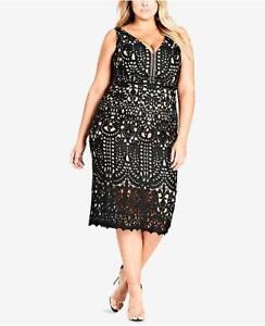 WD5511 City Chic Women s Plus Class Lace Sheath Dress NWT Size S ... c5dc529e1