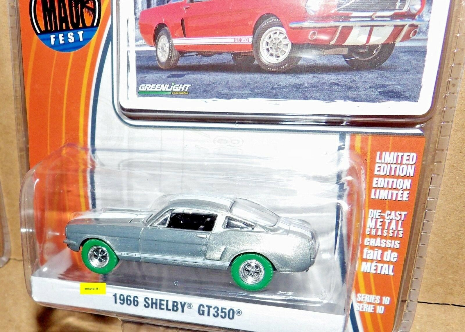 vertlight vert Super Chase Raw Muscle Maui Fest  21 1966 SHELBY GT350 Mustang