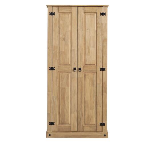 Panana 2 Door Budget Wardrobe Solid Pine Wood Mexican Style Bedroom Furniture