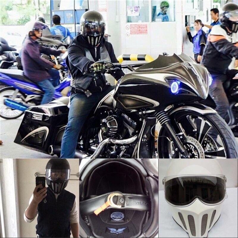 Detachable Cool Motorcycle Japan tt&co Full Face Helmet Motorbike Pilot Goggles