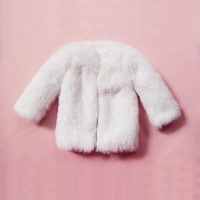 "Custom 1:6 Scale Figure Clothing White Fur Coat For 12/"" Female Body Doll"