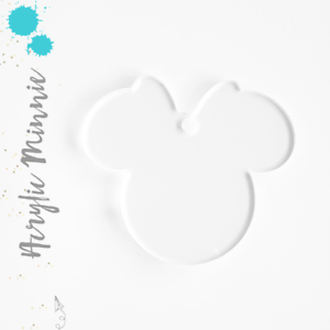 """Clear/&Colors Pack 25-50 Acrylic Keychain Blanks 3/"""" MINNIE MOUSE 1//8/"""" Thick"""