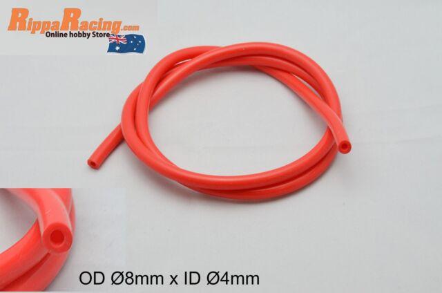 Silicone Vacuum Tube RED OD Ø8mm ID Ø4mm x 1000mm
