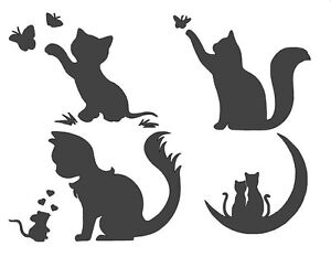 Image Is Loading Stencils Crafts Templates Sbooking Cats Stencil No 4b