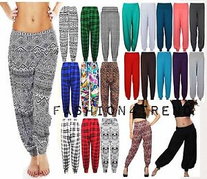 1913a7ac269 Women Ladies Plus Size Printed Harem Pants Cuffed Bottom Ali Baba ...