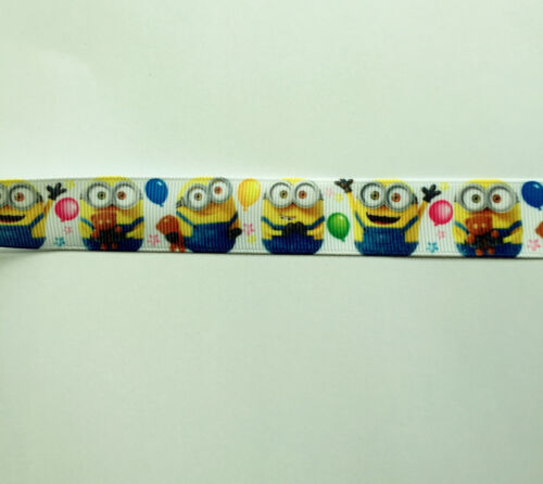 """craft Free P /& P DESPICABLE ME MINIONS grosgrain ribbon 7//8/"""" 22mm cake"""