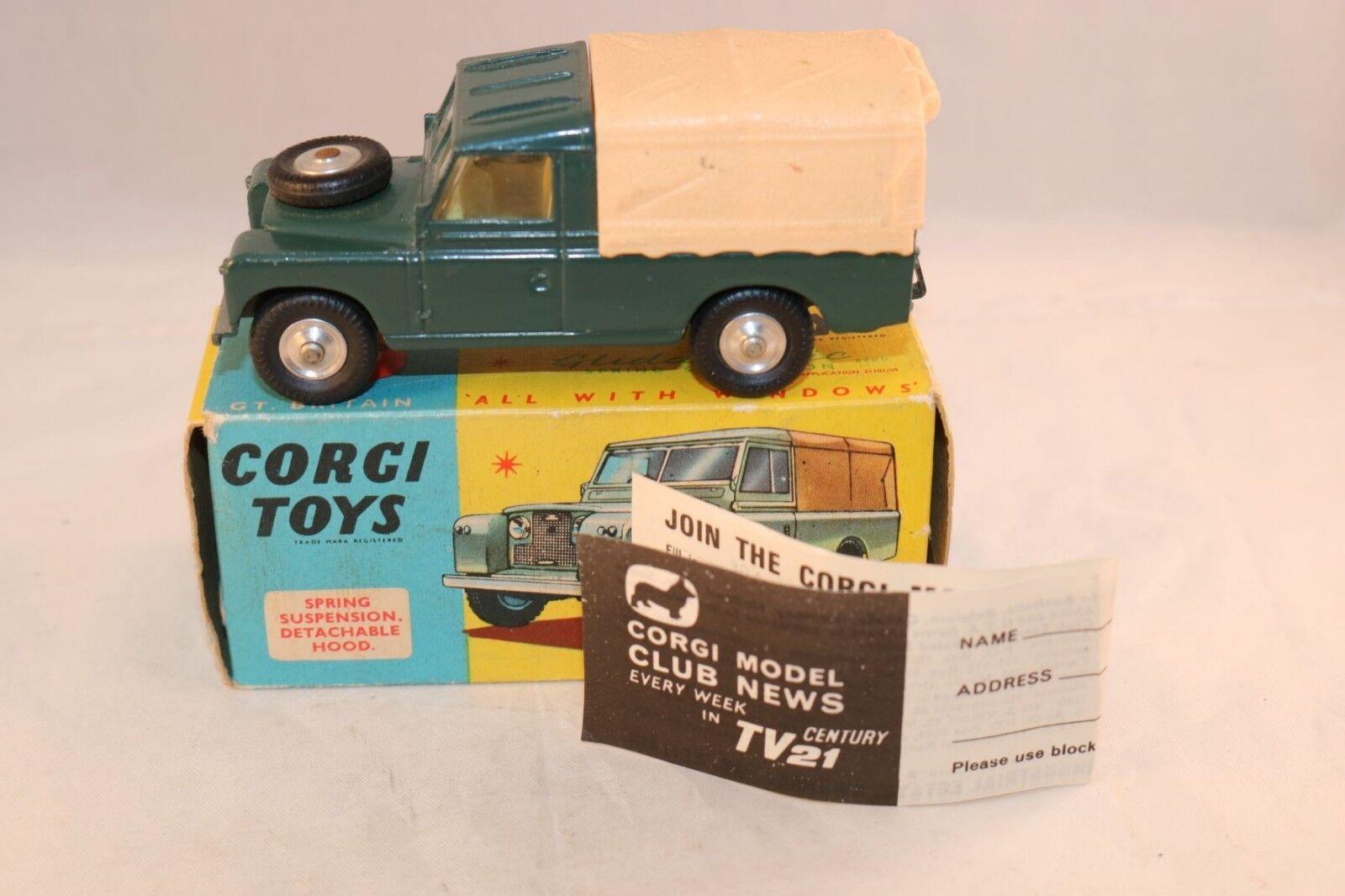 Precio por piso Corgi Juguetes Juguetes Juguetes 438 Land - Rover  Dark verde  difficult colour to find very near mint  tienda hace compras y ventas