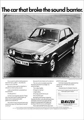 MAZDA RX3 RX-3 SALOON RETRO A3 POSTER PRINT FROM CLASSIC 70'S ADVERT